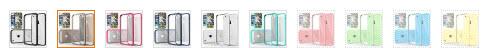 Caseology Transparent Hybrid Bumper Case colors