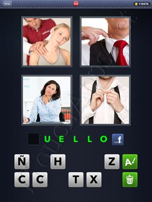 4 Fotos 1 Palabra Level 215 Respuesta