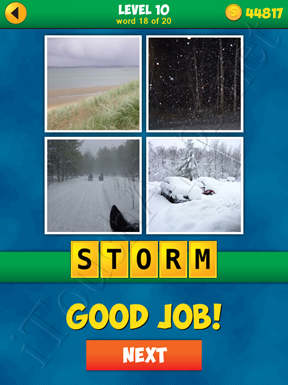 4 Pics 1 Word Puzzle - More Words - Level 10 Word 18 Solution