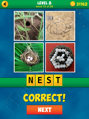 4 Pics 1 Word Puzzle - More Words - Level 8 Word 13 Solution