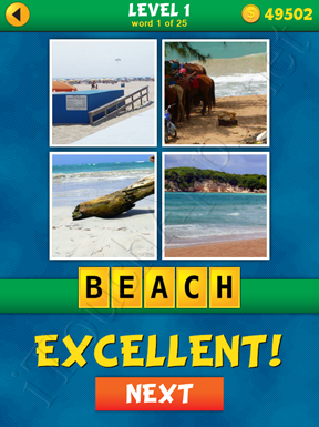 4 Pics 1 Word Puzzle - What's That Word Level 1 Word 1 Solution