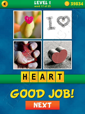 4 Pics 1 Word Puzzle - What's That Word Level 1 Word 17 Solution