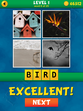 4 Pics 1 Word Puzzle - What's That Word Level 1 Word 6 Solution