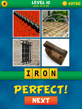 4 Pics 1 Word Puzzle - What's That Word Level 10 Word 10 Solution