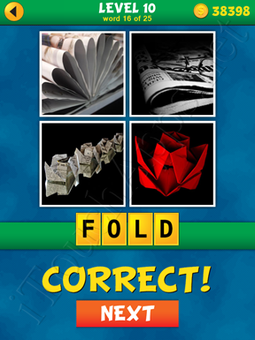 4 Pics 1 Word Puzzle - What's That Word Level 10 Word 16 Solution
