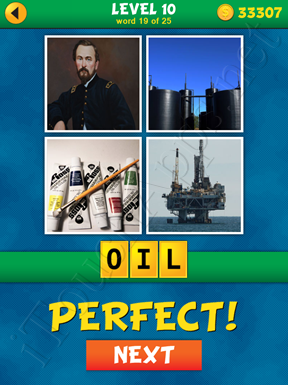 4 Pics 1 Word Puzzle - What's That Word Level 10 Word 19 Solution