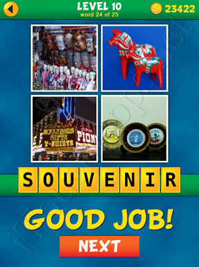 4 Pics 1 Word Puzzle - What's That Word Level 10 Word 24 Solution