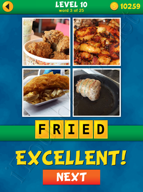 4 Pics 1 Word Puzzle - What's That Word Level 10 Word 3 Solution