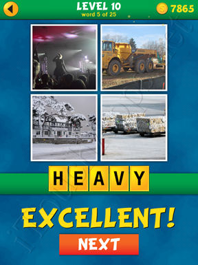 4 Pics 1 Word Puzzle - What's That Word Level 10 Word 5 Solution
