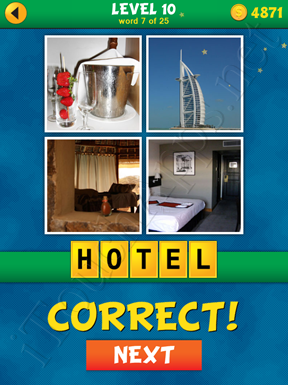 4 Pics 1 Word Puzzle - What's That Word Level 10 Word 7 Solution