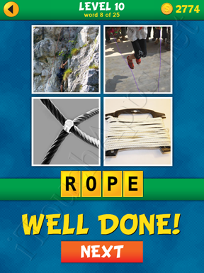 4 Pics 1 Word Puzzle - What's That Word Level 10 Word 8 Solution