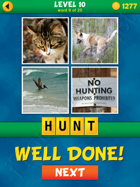 4 Pics 1 Word Puzzle - What's That Word Level 10 Word 9 Solution