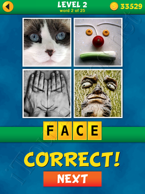 4 Pics 1 Word Puzzle - What's That Word Level 2 Word 2 Solution