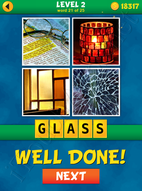 4 Pics 1 Word Puzzle - What's That Word Level 2 Word 21 Solution