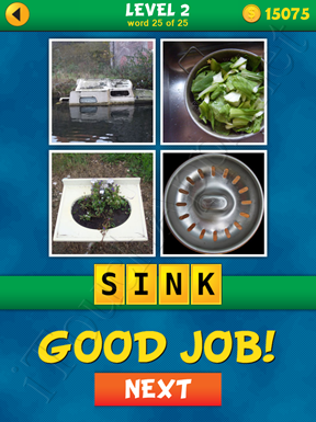 4 Pics 1 Word Puzzle - What's That Word Level 2 Word 25 Solution