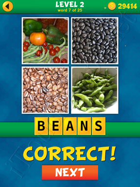 4 Pics 1 Word Puzzle - What's That Word Level 2 Word 7 Solution