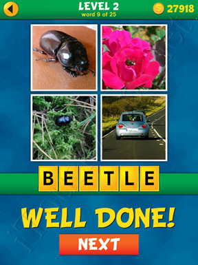 4 Pics 1 Word Puzzle - What's That Word Level 2 Word 9 Solution