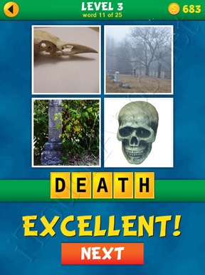 4 Pics 1 Word Puzzle - What's That Word Level 3 Word 11 Solution