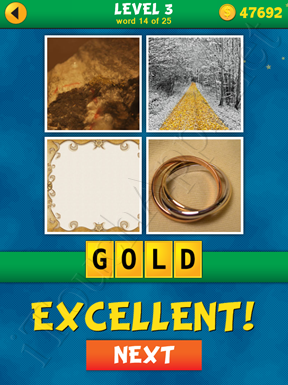 4 Pics 1 Word Puzzle - What's That Word Level 3 Word 14 Solution