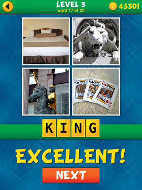 4 Pics 1 Word Puzzle - What's That Word Level 3 Word 17 Solution