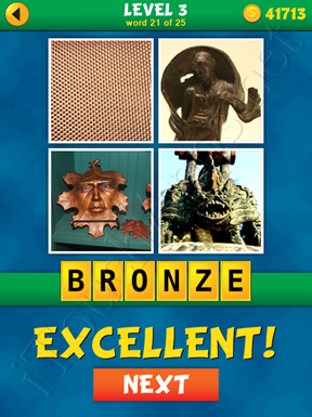 4 Pics 1 Word Puzzle - What's That Word Level 3 Word 21 Solution