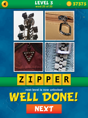 4 Pics 1 Word Puzzle - What's That Word Level 3 Word 25 Solution