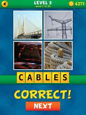 4 Pics 1 Word Puzzle - What's That Word Level 3 Word 7 Solution