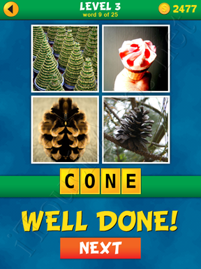 4 Pics 1 Word Puzzle - What's That Word Level 3 Word 9 Solution