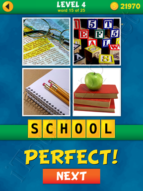 4 Pics 1 Word Puzzle - What's That Word Level 4 Word 15 Solution