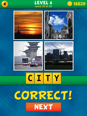 4 Pics 1 Word Puzzle - What's That Word Level 4 Word 18 Solution