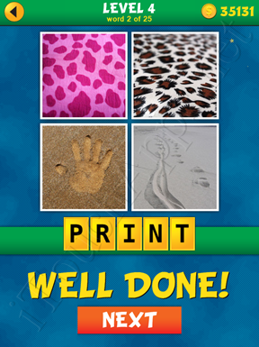 4 Pics 1 Word Puzzle - What's That Word Level 4 Word 2 Solution