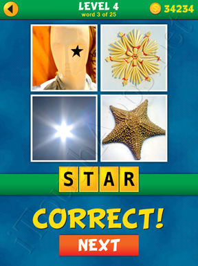 4 Pics 1 Word Puzzle - What's That Word Level 4 Word 3 Solution