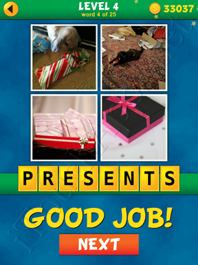 4 Pics 1 Word Puzzle - What's That Word Level 4 Word 4 Solution