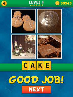 4 Pics 1 Word Puzzle - What's That Word Level 4 Word 6 Solution