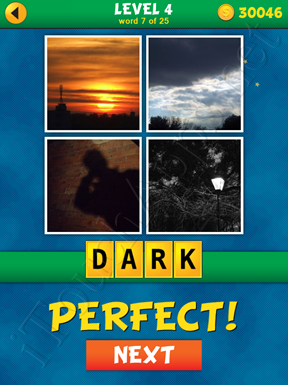 4 Pics 1 Word Puzzle - What's That Word Level 4 Word 7 Solution