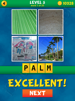 4 Pics 1 Word Puzzle - What's That Word Level 5 Word 1 Solution