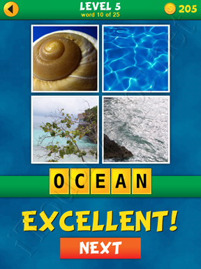 4 Pics 1 Word Puzzle - What's That Word Level 5 Word 10 Solution