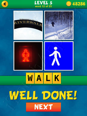 4 Pics 1 Word Puzzle - What's That Word Level 5 Word 12 Solution