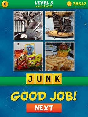 4 Pics 1 Word Puzzle - What's That Word Level 5 Word 19 Solution