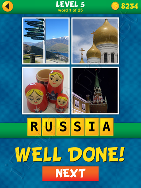 4 Pics 1 Word Puzzle - What's That Word Level 5 Word 3 Solution