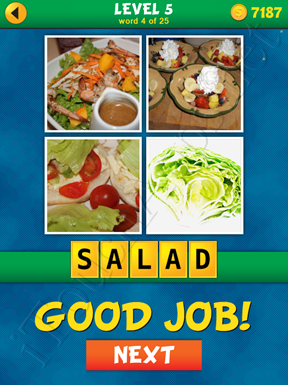 4 Pics 1 Word Puzzle - What's That Word Level 5 Word 4 Solution