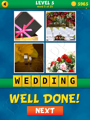 4 Pics 1 Word Puzzle - What's That Word Level 5 Word 5 Solution