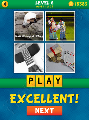 4 Pics 1 Word Puzzle - What's That Word Level 6 Word 11 Solution