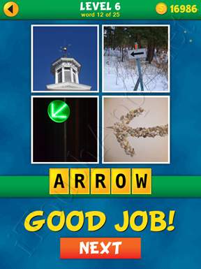 4 Pics 1 Word Puzzle - What's That Word Level 6 Word 12 Solution