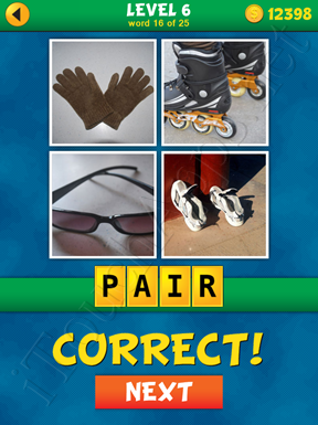 4 Pics 1 Word Puzzle - What's That Word Level 6 Word 16 Solution