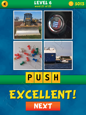4 Pics 1 Word Puzzle - What's That Word Level 6 Word 21 Solution