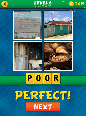 4 Pics 1 Word Puzzle - What's That Word Level 6 Word 23 Solution