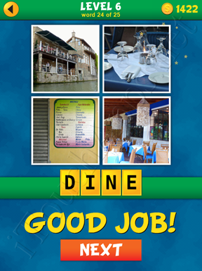 4 Pics 1 Word Puzzle - What's That Word Level 6 Word 24 Solution