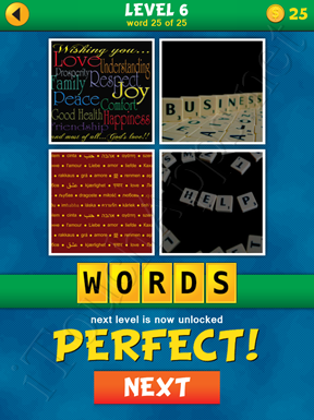 4 Pics 1 Word Puzzle - What's That Word Level 6 Word 25 Solution