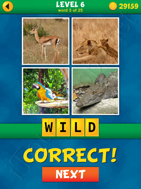 4 Pics 1 Word Puzzle - What's That Word Level 6 Word 3 Solution
